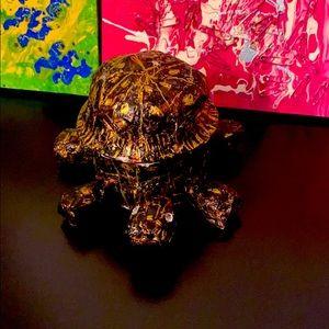Unique Antique Storage Turtle